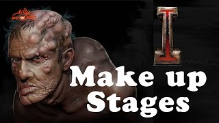 """I"" Movie Makeup Stages - Concept, Arts, Designs, Artists, From WETA Workshop - Vikram, Shankar"