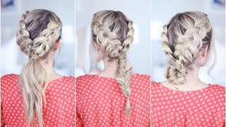 3-in-1 Double Dutch Braids  Build-able Hairstyle   Cute Girls Hairstyles