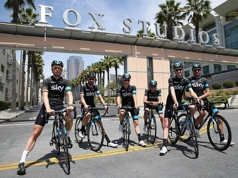 Team Sky visit Fox Studios before