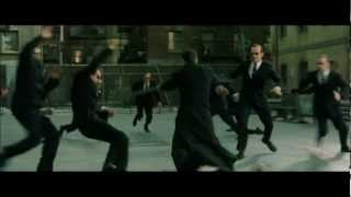 Matrix Reloaded (Music scene) - Burly Brawl - Neo vs Smiths
