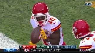 Tyreek Hill 79-Yard Touchdown!   Chiefs vs. Jets   NFL