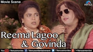 Comedy Scenes | Hindi Comedy Movies | Govinda & Reema Lagoo | Aunty No 1 | Hindi Movies