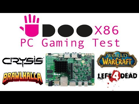 Udoo X86 Advance PC Gaming Test Crysis WOW Left 4 Dead