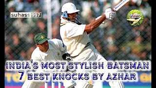 Mohammad Azharuddin's 7 best innings compilation - THE KING OF TIMING AND ELEGANCE