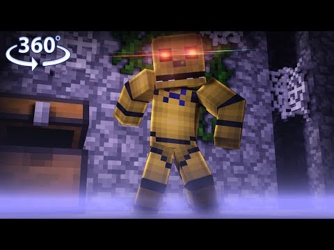 360° Five Nights At Freddy's - GOLDEN FREDDY VISION - Minecraft 360° Video