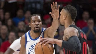 Durant 40 Points! Blazers 9 Game Win Streak! 2017-18 Season