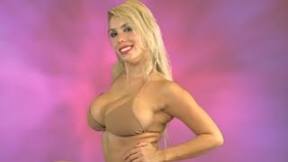 Sexy Photo Shoot with a Very Busty Bikini Model  Large Boobs Yes   Video