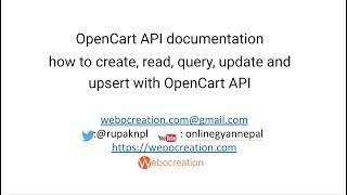 How to use Opencart API?
