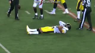 Ryan  Shazier Injury -  Possibly Out for Season maybe paralyzed Steelers player no leg movement