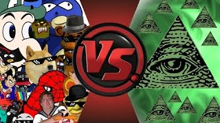 DJ Reacts to MLG and YOUTUBE POOP vs ILLUMINATI! FINAL FACE-OFF! Cartoon Fight Club Episode 33