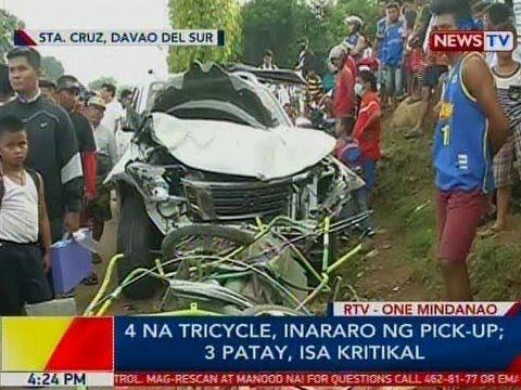 Xxx Mp4 BP 4 Na Tricycle Inararo Ng Pick Up Sa Davao Del Sur 3 Patay 1 Kritikal 3gp Sex