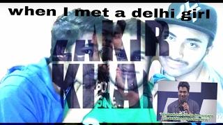 Reaction on Zakir Khan - When I meet a Delhi Girl - AIB Diwas   indian reactions