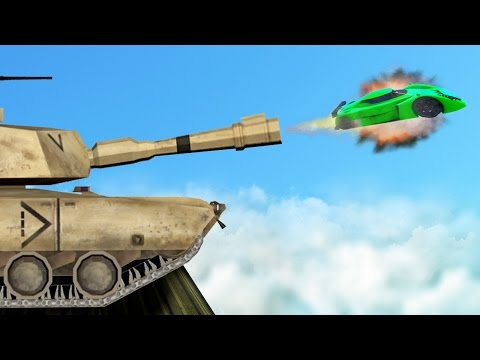 SHOOT CARS OUT OF TANKS IN GTA 5 GTA 5 Funny Moments