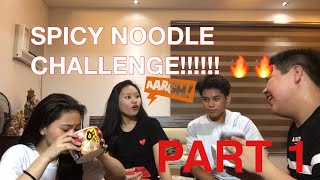 SPICY NOODLE CHALLENGE!!!! 🔥🔥🔥