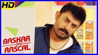 Bhaskar Oru Rascal Scenes | Title Credits | Arvind Swamy intro | Soori Comedy | Master Raghavan
