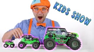 Monster Truck Toys for Kids - learn Shapes of the trucks while jumping and hiking