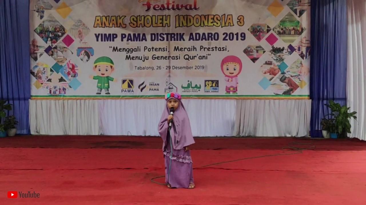 Asmaul Husna   TERJEMAH (Versi Runa & Syakira) | Aulia Izzatunnisa | FASI YIMP 3 2019 Tabalong