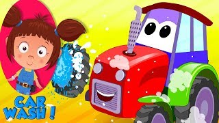 Tractor | Car Wash Videos | Car Cartoons For Babies by Kids Channel