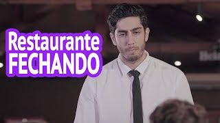 Restaurante Fechando - DESCONFINADOS