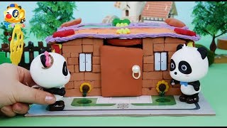 あたらしいお家へようこそ!❤おうちをつくるよ❤大工さん❤トイバス(ToyBus)キッズ おもちゃアニメ