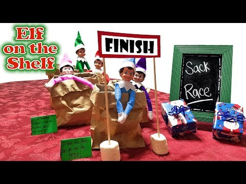 Xxx Mp4 Purple Pink Elf On The Shelf Sack Race With Green Blue Red Elves Day 21 3gp Sex