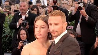 Adele Exarchopoulos and Matthias Schoenaerts on the red carpet of Le Fidele film at 2017 Venice Film