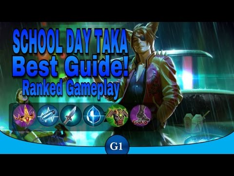VAINGLORY: School Day Taka Ranked Match | Best Taka Crystal Build Guide! | Learn From Me