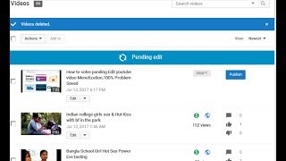 How to solve panding Edit youtube video Monetization,100% Problem Soved