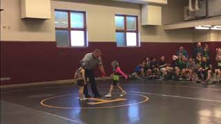 """Stone Cold"" Little Brother Interferes in Sister's Wrestling Match"