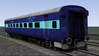 WAP-4 (LDH) with ICF rakes 2S, Sleeper & AC 3 Tier in Train Simulator 2017 (Bharat Stream Express)