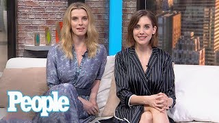 GLOW: Alison Brie & Betty Gilpin Reveal Embarrassing Stories & More | People NOW | People