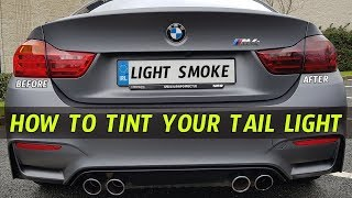 How to Tint Taillights with Smoked Vinyl