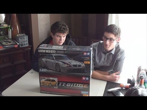 New Drift Car Unboxing with Beau Tamiya TT01E s Unboxing