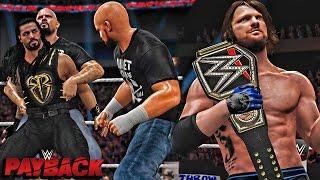 WWE 2K16 Payback 2016 - Luke Gallows & Karl Anderson Attack Roman Reigns & AJ Styles Wins WWE Title!