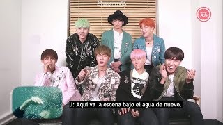 [Sub español]151216 BTS 'RUN' MV REACTION  | No entienden su propio MV.