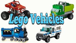 Lego Building Blocks Toys for Kids To Learn Transport, Cars and Trucks Names and Sounds for Children