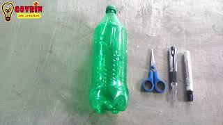 Cara membuat pohon hias dari botol plastik | dekorasi ruangan cantik
