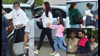 Amitabh Bachchan 75th Birthday - Aishwarya Rai, Aaradhya, Abhishek, Navya Navel Leaves For Maldives