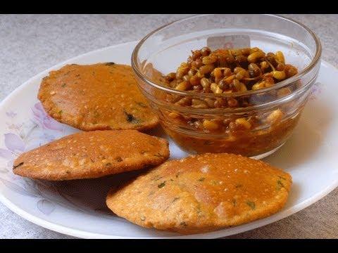Bhajaniche Vade - maharashtrian roasted multigrain special poori - By Vahchef @ Vahrehvah.com