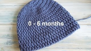 Download (crochet) How To - Crochet a Simple Baby Beanie for 0-6 months 3Gp Mp4