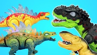 Walking Dinos Stegosaurus T-rex Triceratops and 3D Dinosaurs Puzzles Fun Adventure Toys For Kids