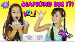 DIGGING FOR REAL DIAMONDS! Surprise Diamond Dig It - Surprise Toys Diamond Hunt