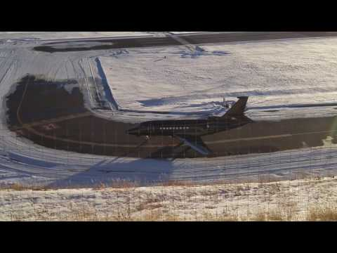 Beautiful Black Executive Jet Takeoff Telluride 4K Video