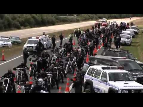 Police harass Rebels Australia MC