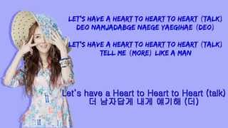 4Minute ( 포미닛) Heart To Heart Color Coded Romanization.English.Hangul Lyric
