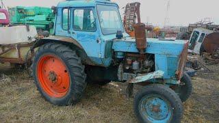 Беларусь-МТЗ-80-тупорылый пуск двух старых тракторов.