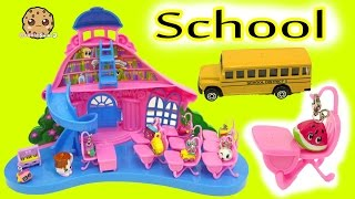 Charm U School House Playset with  Exclusives + Shopkins Season 5 Surprise Blind Bag