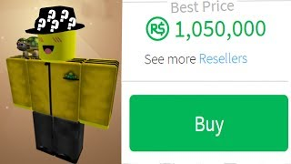 BUYING A MILLION ROBUX FEDORA! *ONE OF THE RAREST*