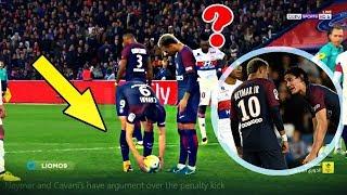 Neymar JR & Cavani Fight for Penalty & Free Kick ● PSG vs Lyon 2-0 HD