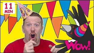Maggie´s Birthday + MORE Magic Stories for Kids from Steve and Maggie   Learn Wow English TV